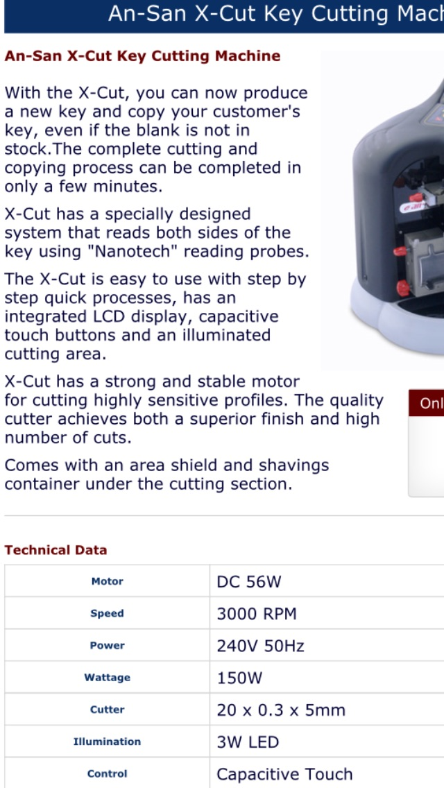 New X Cut machine .. Can't find the correct key .. Use this to make a new one