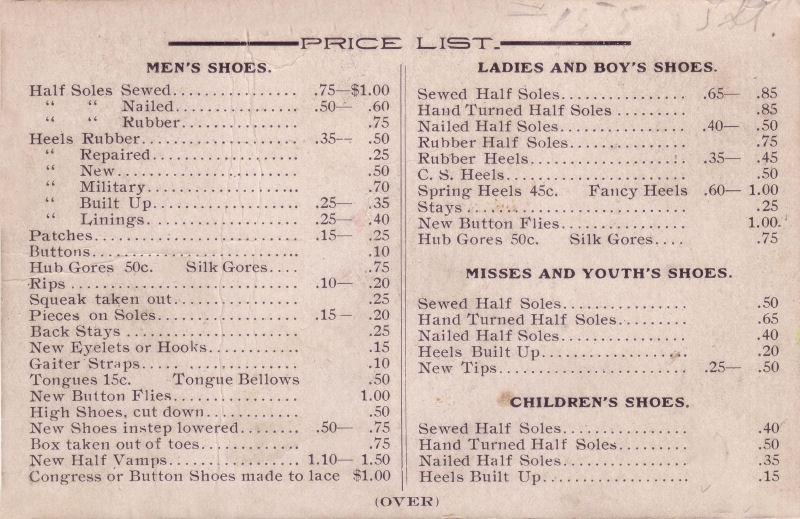 Milwaukee Shoe Repairing Co Price List.jpg